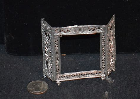 metal fireplace cover doll miniature fireplace place cover metal ornate