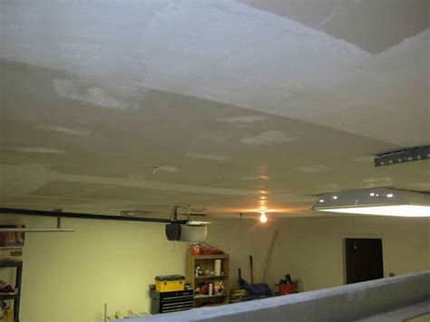 Garage Ceiling by Garage Makeover Bringing The Popcorn Ceiling Brian