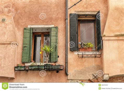 windows for old houses windows of old house in venice stock photo image 46279130