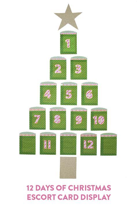 twelve days of christmas escort card display di simply
