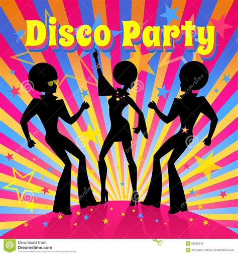 disco template disco vector illustration stock vector image