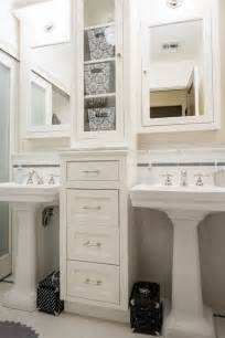 Bathroom Pedestal Sink Storage Cabinet Pedestal Sinks With Storage Drawers In Between Renovate Your Bathroom