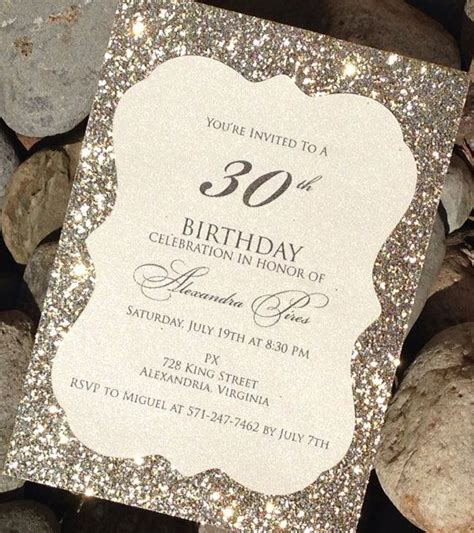 Birthday Invitation 25 Glitter Birthday Invitations Celebration Announcement Anniversary Glitter Invitation Template