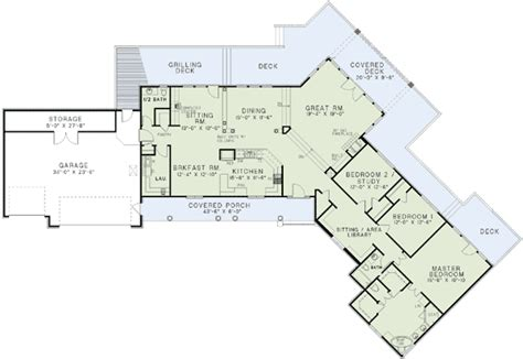 angled ranch house plans home design and style