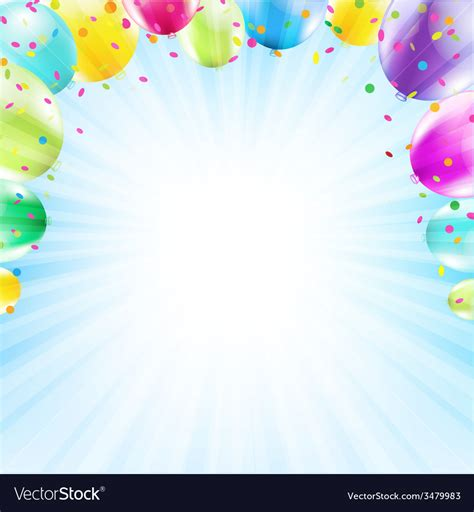 birthday card balloon template birthday card design template balloon royalty free vector