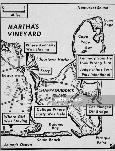 Chappaquiddick Location Map Of Chappaquiddick Island Just The Island Of Martha S News Photo Getty Images