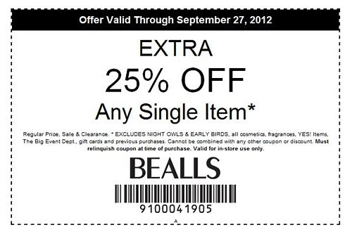bealls texas online coupon codes