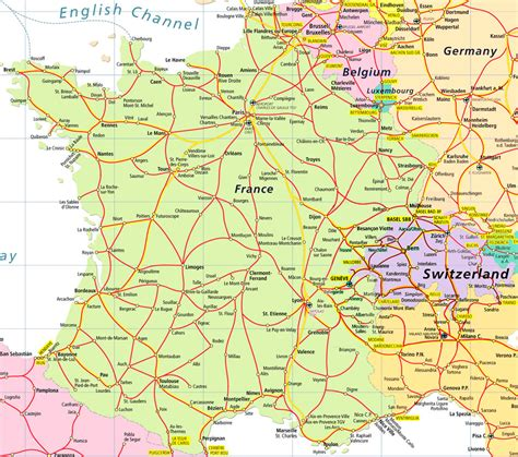 printable road map of europe maps of switzerland detailed map of switzerland in