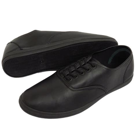 black flat work shoes mens black casual flat lace up pumps plimsolls trainers
