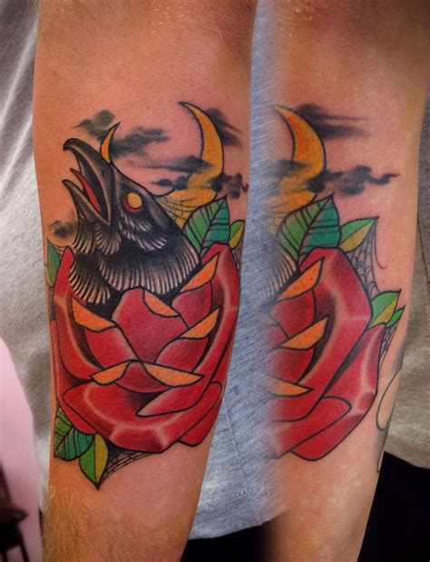 traditional crow tattoo traditional www imgkid the image kid