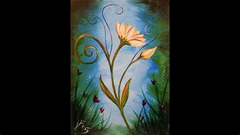acrylic paint canvas la fleur step by step acrylic painting on canvas for