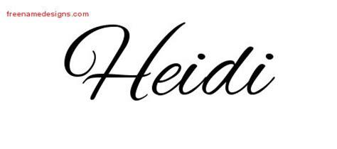 tattoo name heidi image gallery name heidi