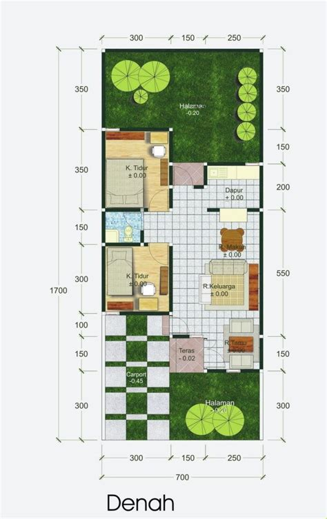denah rumah type   lantai design arsitektur