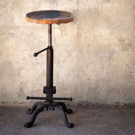 vintage metal base bar stools park hill vintage bar stool w wooden seat shx130
