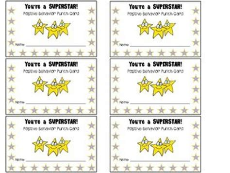 classroom punch card template best photos of student punch card template free