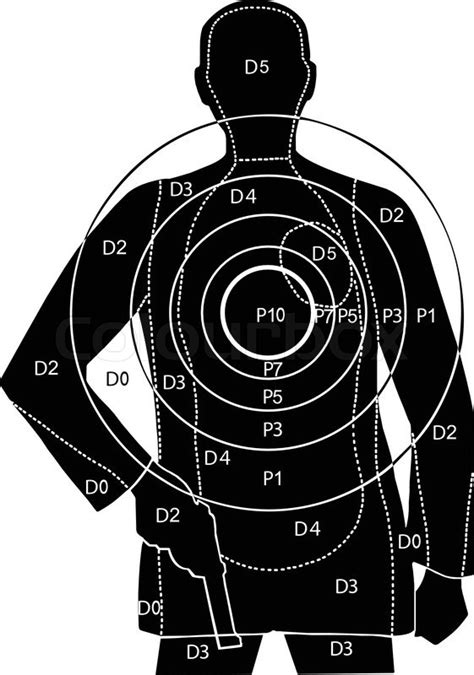 printable man targets the target for shooting at a silhouette of a man with gun