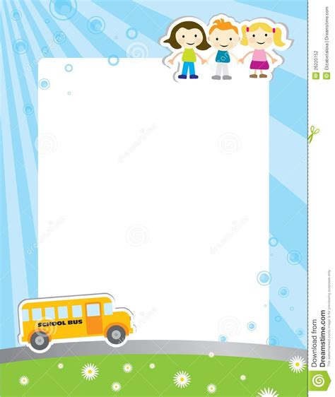 Template Background For School Poster Stock Photography Image 26220152 Children S Portfolio Template Free