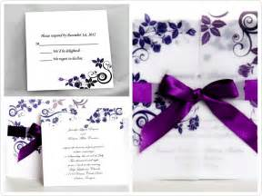 Purple Wedding Invitations by Perfectly Purple Wedding Invites For Fall Tagweddings