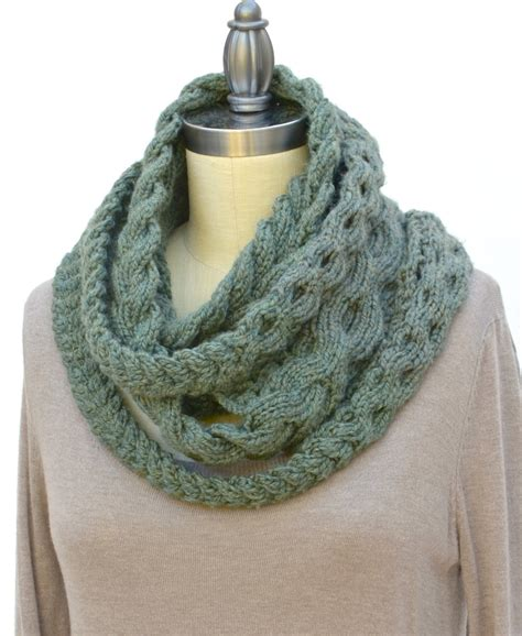 pattern for knitting an infinity scarf triple plait infinity scarf pdf knitting pattern instant