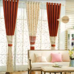 Curtain Rod Pocket Beau D 233 Coratif Floral Rouge Orange Beige Clair Chambre 224