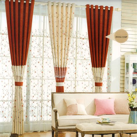 2 tone curtains decorative two tone curtain floral pattern 2016 new arrival