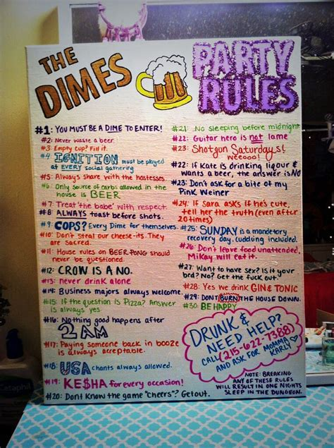 college house ideas college party rules softball house pinterest