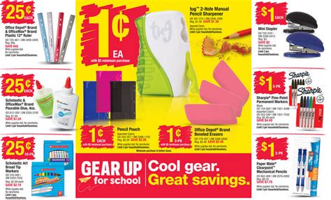 office depot office max back to school deals for the week