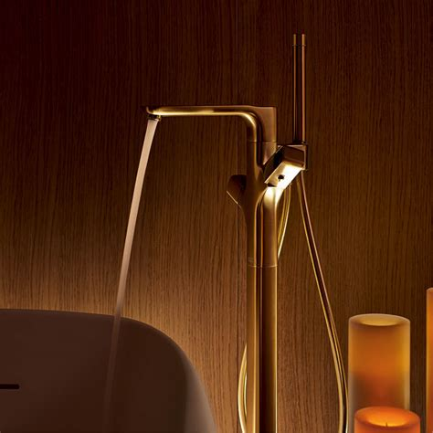 hansgrohe uk gold taps and bespoke finishes for the bathrooms