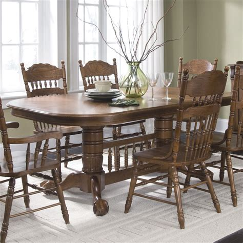 liberty furniture world pedestal dining table