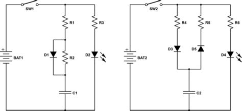 diodes and resistors in series led charge but discharge of a capacitor electrical engineering stack exchange