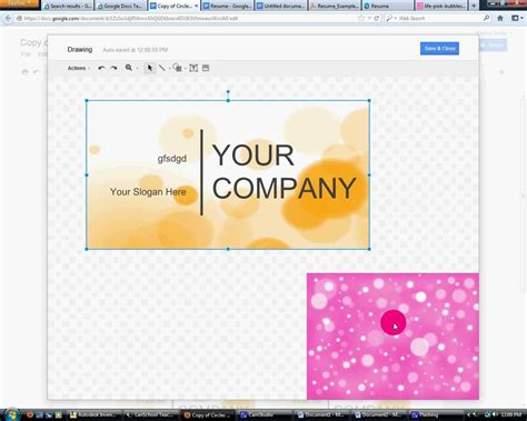 Business Card Template Google Docs Template Card Template Docs
