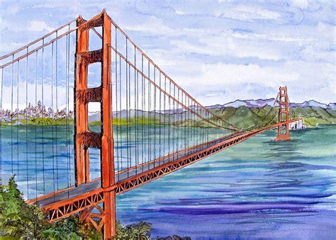 golden gate bridge in san francisco painting by bonnie sue schwartz
