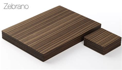 Wooden Placemats Table Mats by Real Wood Veneer Placemat Set Or Coaster Set By Simply