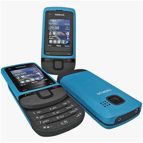 nokia themes model c2 nokia c2 05 blue 3d model