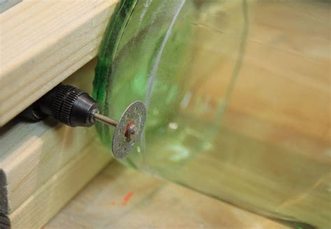 glas schneiden mit flex 6315 flaschenfackel obi