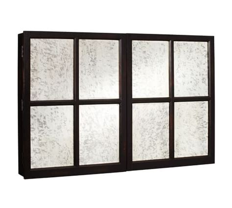 mirror cabinet tv covers pottery barn