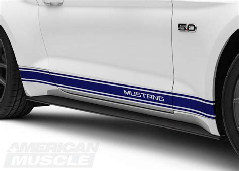 mustang rocker panel stripes mustang exterior decal customization styling guide