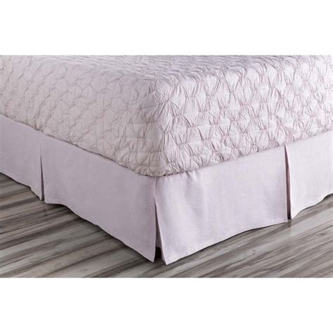 cing bed roll surya evelyn woven linen california king bed skirt in