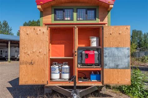 tiny house with slide out 222 sq ft tiny house with expanding slide outs