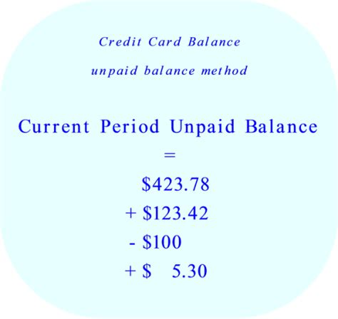 Credit Payment Period Formula Credit Card Unpaid Balance Method