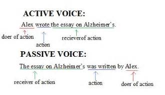 active and passive voice sentences hold
