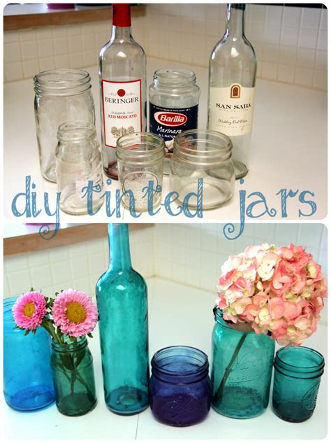jar crafts diy diy glass crafts tinted jars diy crafts