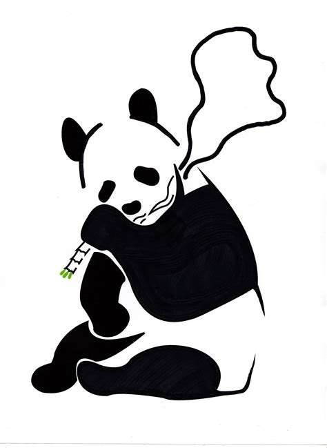 panda template panda stencil banksy inspired by danfleming on deviantart
