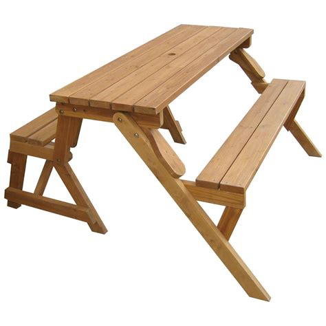 merry garden interchangeable picnic table and garden bench merry products interchangeable picnic table garden
