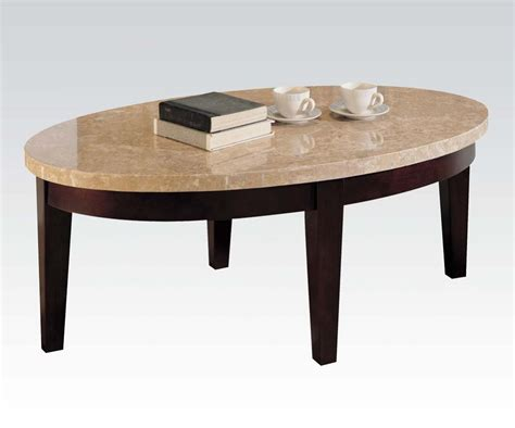White Marble Top Coffee Table White Marble Top Walnut Finish Coffee Table