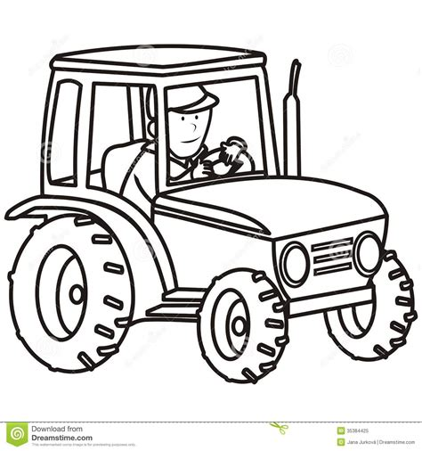 tractor coloring book stock vector image of chimney