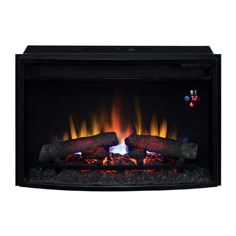 classic curved front 25 inch electric fireplace