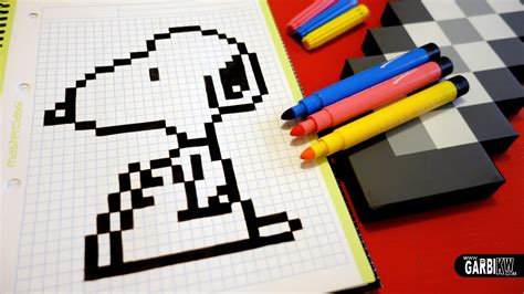 Handmade Graphics - handmade pixel how to draw snoopy pixelart by hello