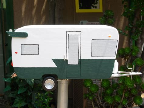 Handcrafted Mailboxes - handmade crafted shasta trailer mailbox by jeff