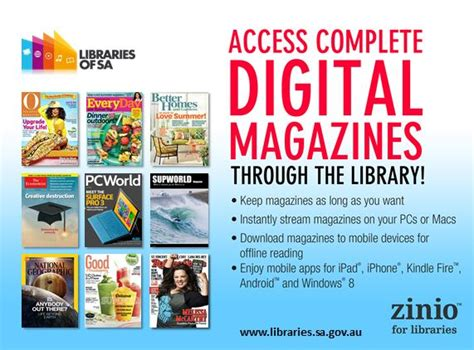 download free magazines from your library with zinio south australian public library network zinio